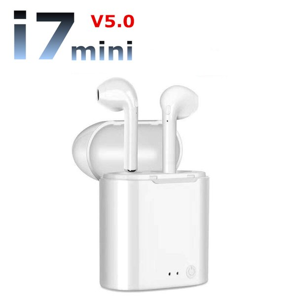 i7s Mini Wireless Bluetooth Earphone i7s Mini TWS Headphones with Mic Charging Battery Box In-Ear Earbuds For Apple air Android pords Xiaomi