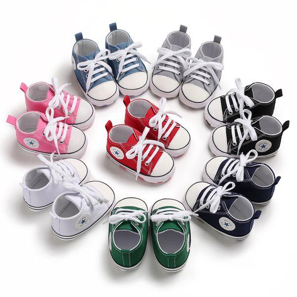 Crianças Sapatas Dos Esportes Do Bebê Da Menina do Menino Primeiros Caminhantes Sapatilhas Do Bebê Infantil Fundo Macio walker Sapatos 5 pares / 10 pcs 0101179