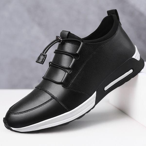 Acheter Chaussures En Cuir Hommes Mocassins Chaussures De Sport Pour Hommes Vente Chaude Baskets Noires Chaussures De Designer Hommes 2019 Chaussure