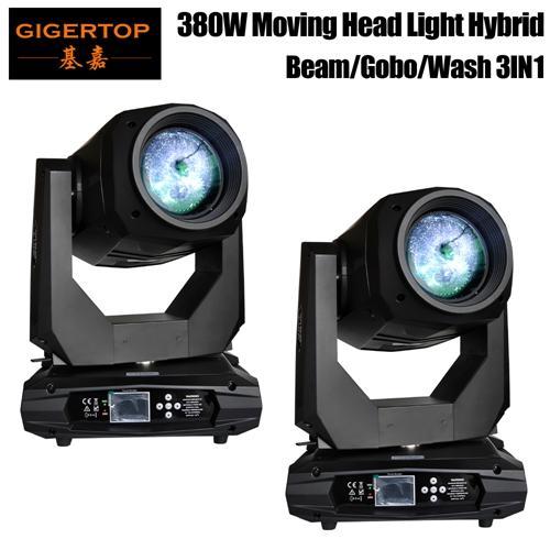 Freeshipping 2 unità Moving Head Light 380W colore 20/24 canali DJ Light Gobo effetto pattern luce DMX-512 per Party Disco DJ Show KTV