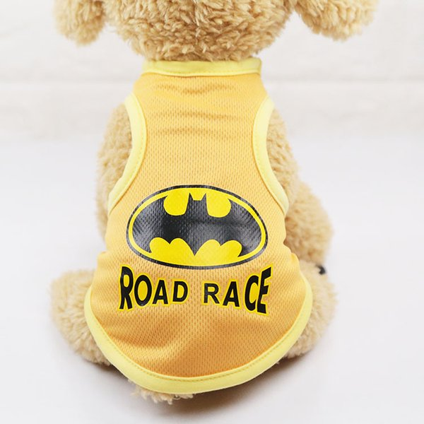 Cute Pet Dog Clothes Soft Dogs Vest New Fashion Sports Cat Shirt Pet Clothing Spring / Summer Vests Cool Sweatshirt Coats For Small Pets