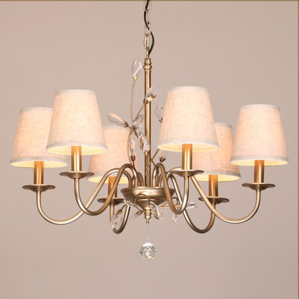 Retro loft American Branches leaves crystal chandelier cristal LED lamp living room bedroom Hotel light Art lighting F074