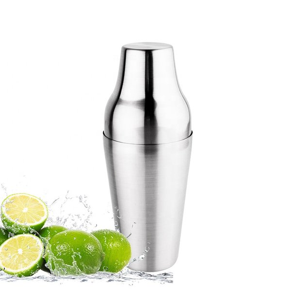 best selling 500ml Stainless Steel Cocktail Two-stage Shaker Party Drink Mixer Beautiful Bar Tools mixer base, strainer and cap