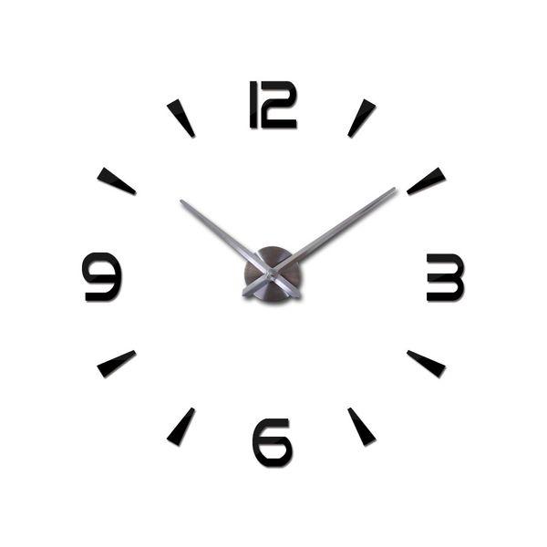 Grande Acrílico Espelho 3D Adesivos Único Relógio De Parede De Bateria-operado Decalque Decoração Digital Decorativa Relógio de Parede Eco-friendly