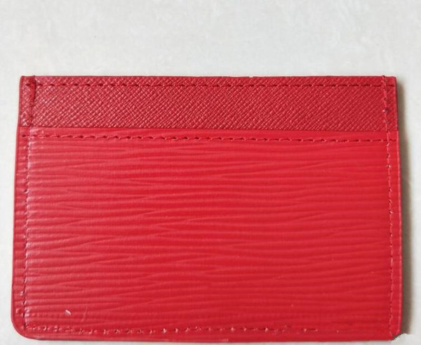 New Card Holders classic red black Card ID holder high quality leather for men women little bags wallet Coin Purses free shopping