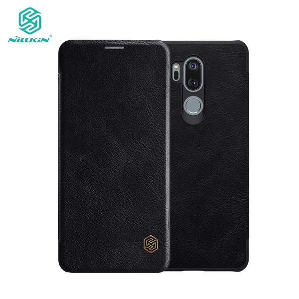 for LG G7 ThinQ Case for LG G7 ThinQ Cover Nillkin Qin Series PU Leather Flip Case 6.1''