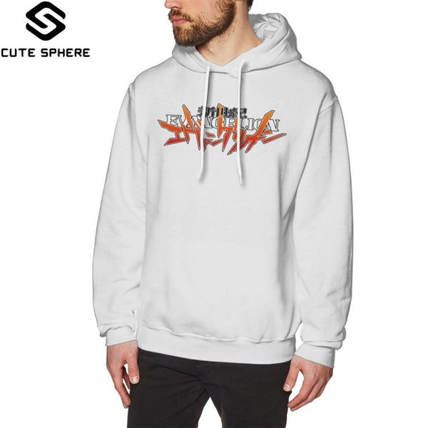 Evangelion Hoodie Neon Genesis Evangelion Logo Designs Hoodies Long Sleeve Cotton Pullover Hoodie Winter Men Streetwear Hoodies