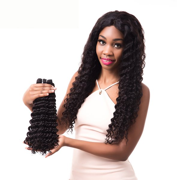 Lucky Queen 9A Best Virgin Hair Deep Wave 3pcs/lot 100 Percent Human Hair In Weaves Unprocessed Indian Remy Hair Extensions Gold Suppliers