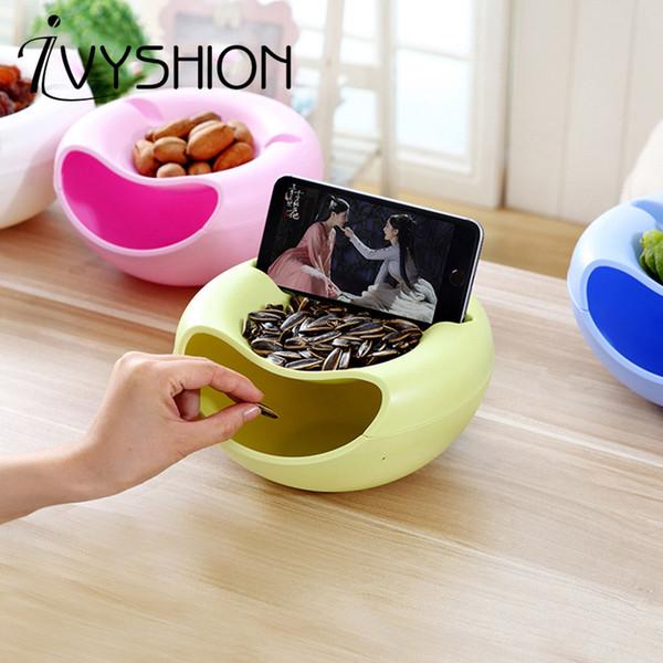Großhandel Kreative Nuss Schüssel Melone Samen Snacks Süßigkeiten Trockenfrüchte Kunststoff Aufbewahrungsbox Organizer Fach Handy Organisieren