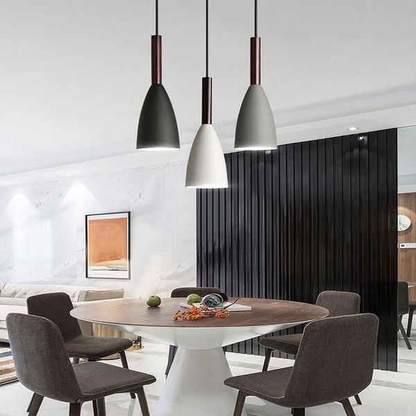 Acheter Led Lampes Suspendues De Style Nordic Lampe Suspension Salle A Manger Suspension En Bois Luminaire Pour Eclairage Lampes Suspendues Modernes