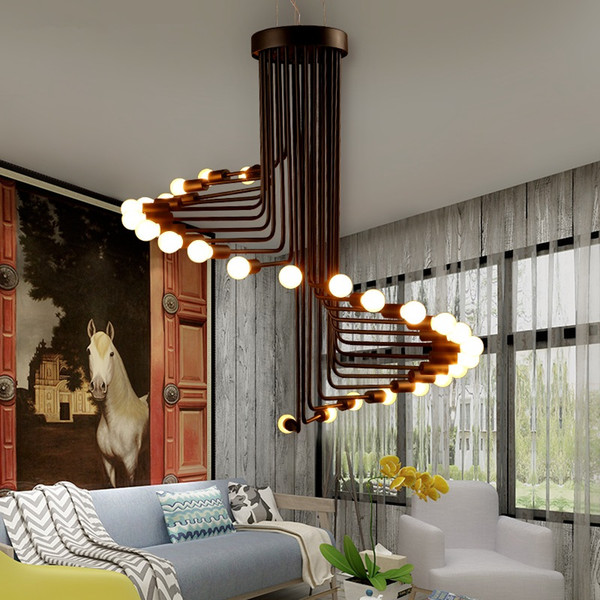 Modern LED Nordic Lamps Living Room Lighting Fixtures Bar Cafe Chandeliers  Restaurant Hanging Lights Industrial Retro Ceiling Pendant Lamps Light ...