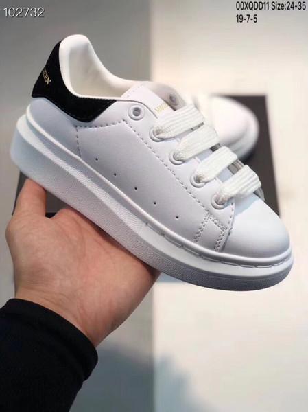 McQueen Çocuklar Tasarımcı eğitmenler konfor sneakers çevrimiçi güverte Ayakkabı Unisex Kız erkek Moda casual Tasarımcı Çocuk yürümeye başlayan Ayakkab ...