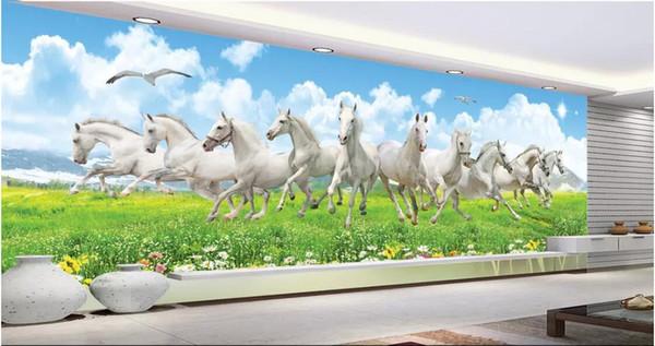 3d Room Wallpaper Custom Photo Non Woven Mural Horse To Success Huge Hd Horse Living Room Tv Background Wall Decorat Wallpaper For Walls 3 D