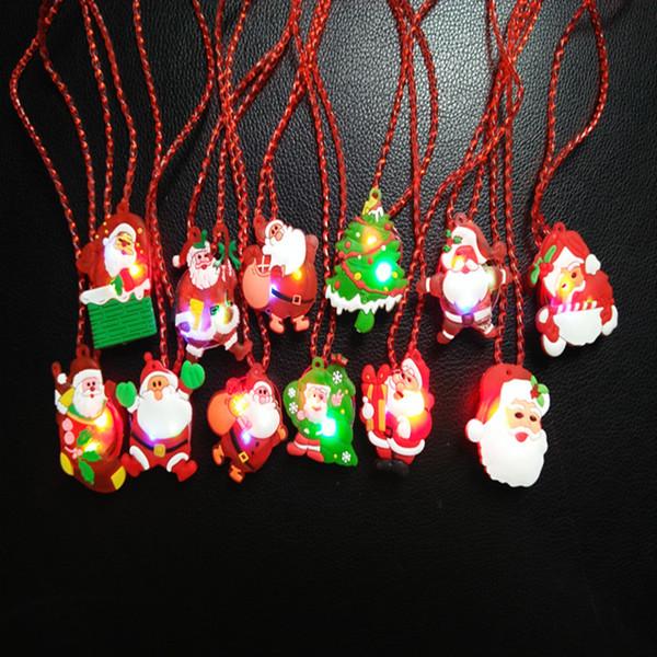 LED Детские ожерелья рождественские подарки Блестящая флэш ожерелье Рождество Хэллоуин Luminous ожерелье Игрушки LED B
