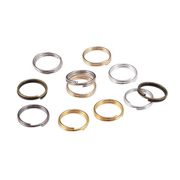 200pcs/bag 6 8 10 12 mm Open Jump Rings Double Loops Split Rings Connectors For Diy Jewelry Making Finding Accessories Wholesale