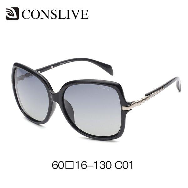 Женские большие солнцезащитные очки темные поляризованные большие солнцезащитные очки женские женские овальные солнцезащитные очки оттенки девушки лето UV400 фиолетовый коричневый