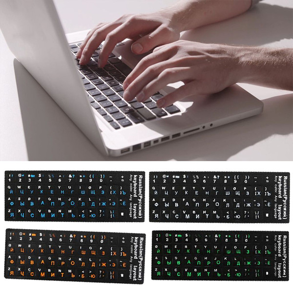 Russian Fluorescent Keyboard Cover Stickers For Mac Book Laptop PC Computer Standard Letter Replacement Keyboard Covers Film