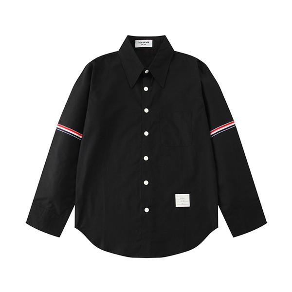 Étoile rouge de la chemise des hommes d'affaires d'automne net avec l'utilisation de 100% coton oxford amélioré vêtements à manches longues m-xl