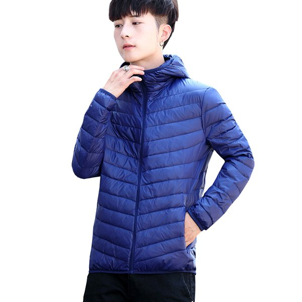 2019 Winter New High Quality Mens Down Coat Large Size Male Ultra Light Down Jacket Men Windbreaker Feather Light Weigt Hooded Winter From Purlove,