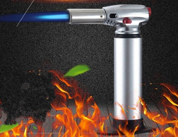 1300C Butane Scorch torch jet flame lighter kitchen torch Giant Heavy Duty Butane Refillable Micro Culinary Torch Self-igniting Epacket