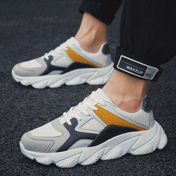 2019 Espadrilles d'été en mesh tissé pour hommes respirant espadrilles occasionnels baskets extérieures légères chaussures de course de mode W30726