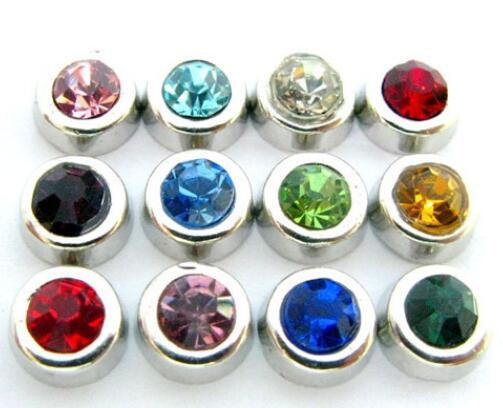 20PCS/lot Mix Colors Round Birthstone Floating Locket Charms Fit For Glass Living Lockets Fashion Jewelrys