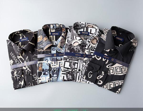 NIGRITY 19 Moda masculina de primavera Clásico Cómodo Casual Camisa de negocios de manga larga Hombre Camisa formal Más el tamaño S-Size 3XL # 140