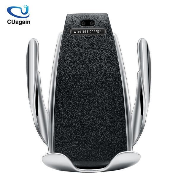 10 w Kablosuz Araç Şarj S5 Otomatik Sıkma Hızlı Şarj Telefon Tutucu Iphone Xr Huawei Samsung Akıllı Telefon Için Arabaya Monte J190427