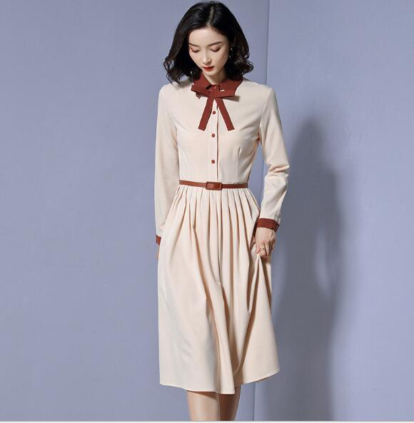 Cheapest New Style Dress Fashion Bow Slimming Long Over Knee Skirt
