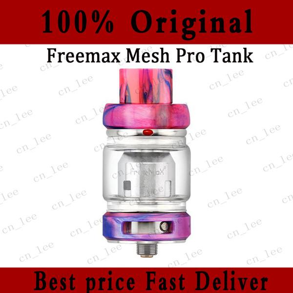 Auténtico Freemax Fireluke Mesh Pro Tank 5 ml Bombilla de vidrio Sub Ohm Tank Doble bobina de malla triple Atomizador Resina metálica Versión de fibra de carbono