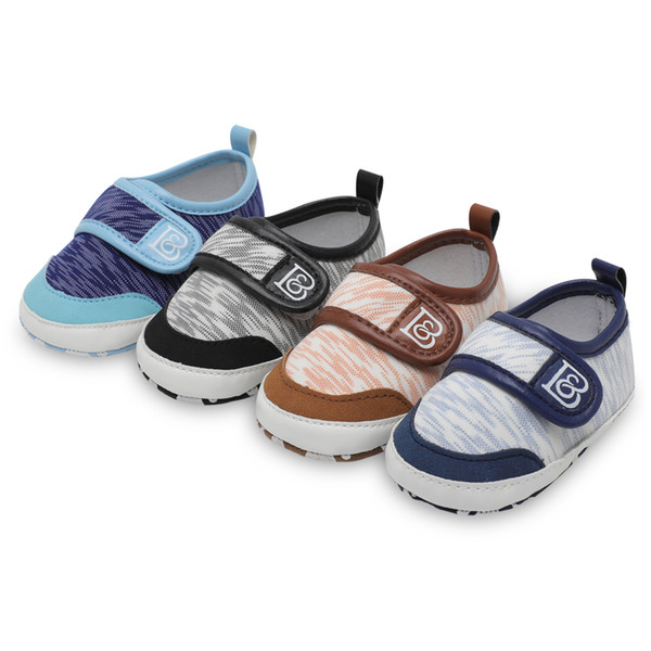 Baby Shoes Spring Summer Toddler Boys Girls First Walker Stitching Printing Casual Shoes PU Plus Anti Shoesborn