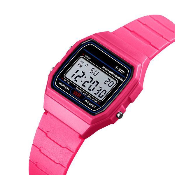 Fashion Men Led Watch alarm clock Men/women's F-91W watches Cheap F91W fashion thin LED watches Fashion Silicone Watch
