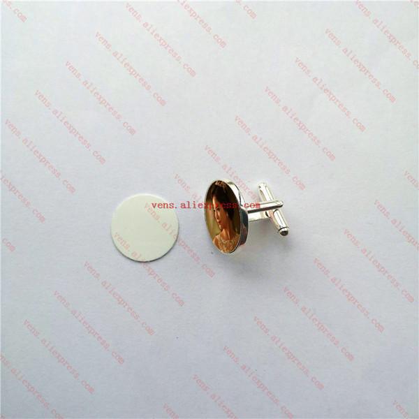 Sublimation Pinces à cravate vierges Boutons de manchette Mode boutons de manchette Tranfer de chaleur Impression Bricolage Consommables 7 couleurs 20mm 30pcs / lotSH190721