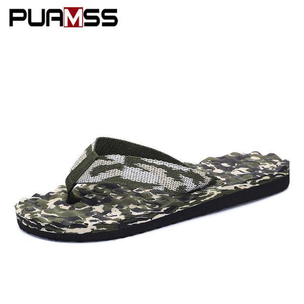 Men Slippers Wholesale Cheap Lightweight Slippers Good Quality Camouflage Flip Flops Men