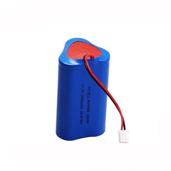 Nuevo diseño de batería de iones de litio 11.1V 2200mAh 18650 batería de litio con balanza PCM y cables