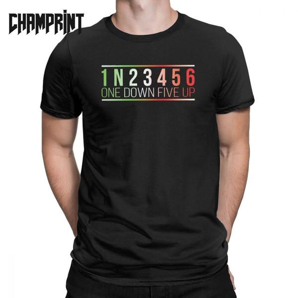 Männer 1N23456 One Down Five Up T Shirts Fahrt Moto Bike Chopper Motorrad Reine Baumwolle Kurzarm T-shirt Geschenkidee T-Shirts