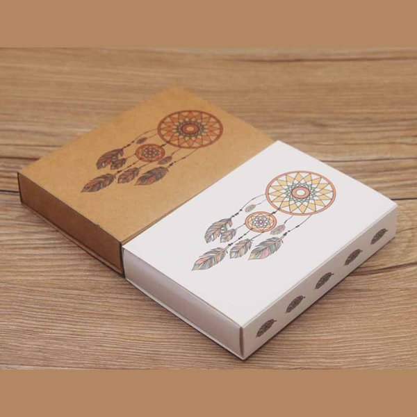 Big size paper full color print gift package box Dreamcatcher /flower design candy/wedding favor box /DIy thank you gift box20pc