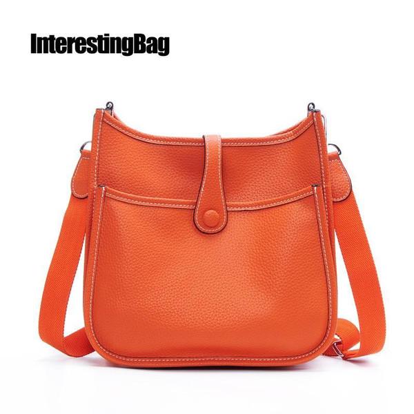 INTERESTINGBAG Handbag,Bags For Women 2018,H Purses Fashion Bag,Woman Shoulder Bags,Genuine Leather Crossbody Bag For Women 2018