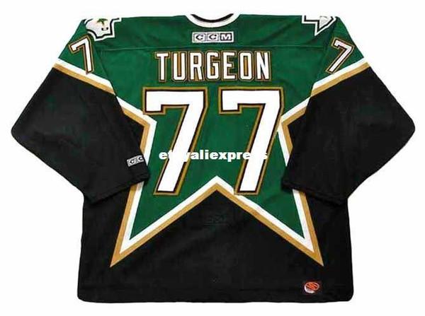 custom Mens PIERRE TURGEON Dallas Stars 2003 CCM Jerseys Cheap Retro Hockey Jersey