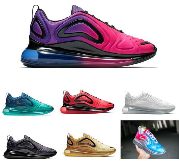 Acheter 2019 Cheap Nike Air Max Airmax 720 72C Running Shoes Hommes Femmes TRIPLE BLACK VOLT ROSE RISE SEA FOREST Sunset GYM ROUGE CARBON GREY Mens