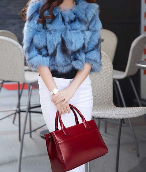 New Hand-held Leather Cattle Leather Single Shoulder Euro-American Oblique Crossing Trend Bag