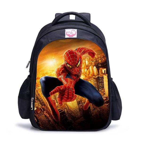 Nice 8 STYLES Backpack Cute 3D SPIDER MAN Backpacks for Children Boys Girls Casual children School Bag Travel Helmet Junior Backpack