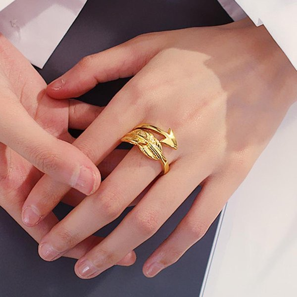 Arrow Rings Open Rings For Women Adjustable Engagement Patry Jewelry Female Party Feather Ring