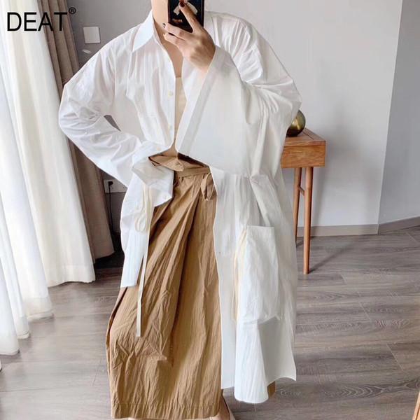 DEAT 2019 nouvelle mode estivale femmes vêtements col rabattu manches chauve-souris lâche crème solaire cardigan chemise femme WF59700