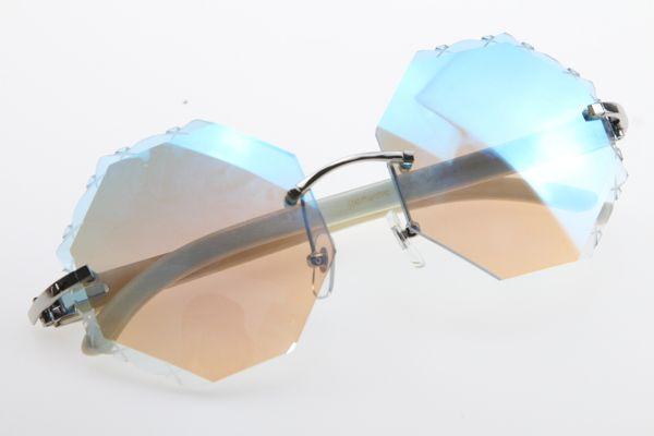 Gümüş Mavi ayna Lens