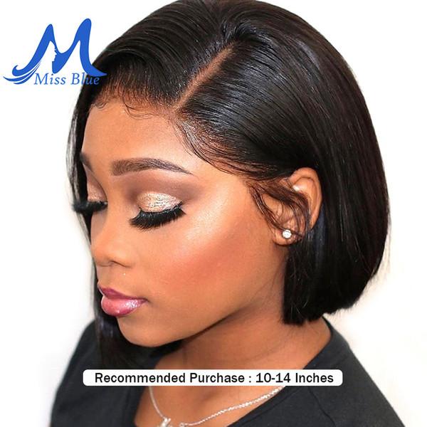 Perruques de cheveux humains avant de dentelle pour les femmes noires Droite brésilienne cheveux Remy Ombre Court Bob Perruques 613 Blonde Rose Couleur Missblue Y190713