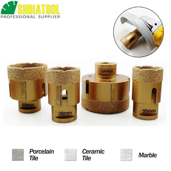 Brazed Hole Saw 5-55mm Dry Diamond Core Drill Bit M14 for Stone Tile Glass