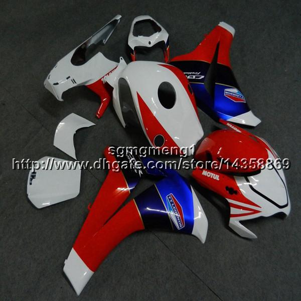 23colors + Botls Artículo de motocicleta azul blanco rojo molde de inyección para HONDA CBR1000RR 2008 2009 2010 2011 plástico ABS motor Carenado kit