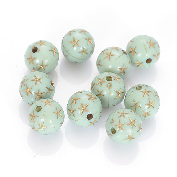 En gros 8 MM Antique Design Perles Acrylique En Plastique Lâche Perles Rondes Pour Bricolage Fabrication De Bijoux