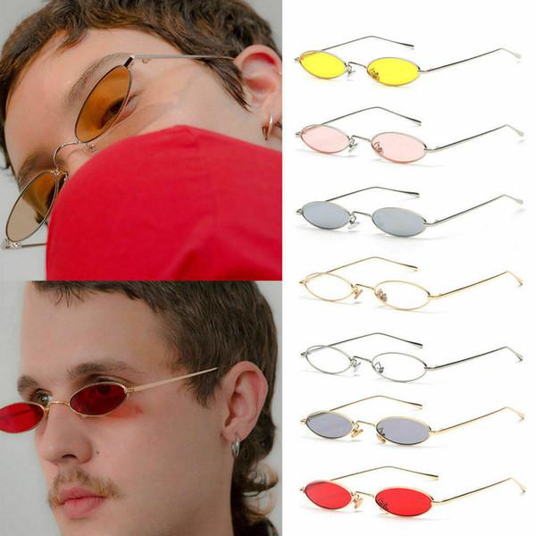 Moda Feminina Quadro Oval Óculos De Sol Pequenos Óculos Senhoras Retro Óculos De Sol Novo
